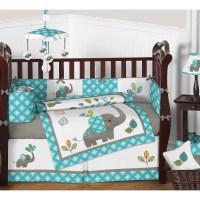 Sweet Jojo Designs Mod Elephant 9 Piece Crib Bedding Set ...