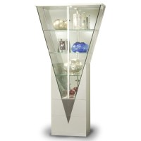 Chintaly Curio Cabinet with Mirrored Interior & Reviews ...