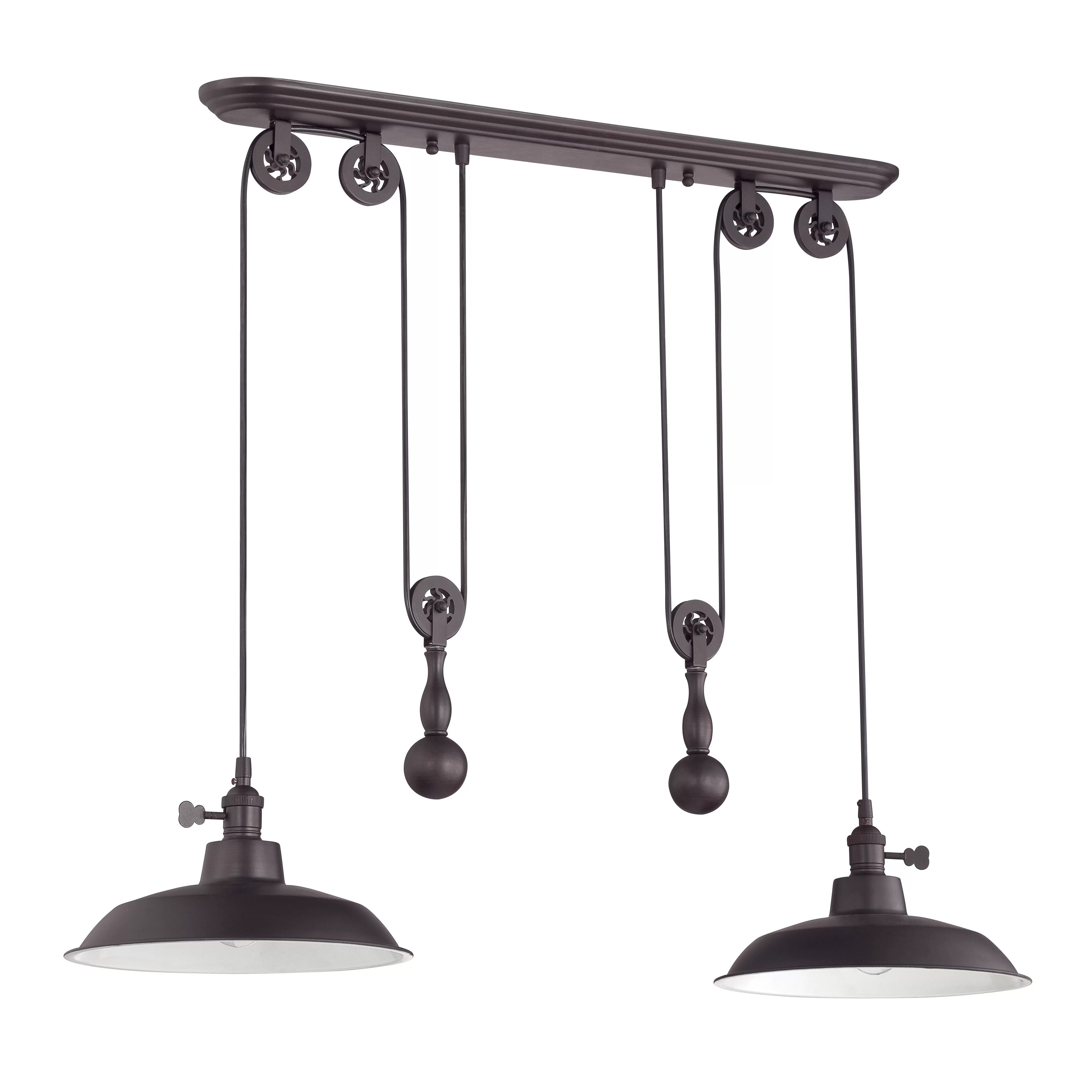 Pendant Island Lights Craftmade Pulley 2 Light Kitchen Island Pendant And Reviews
