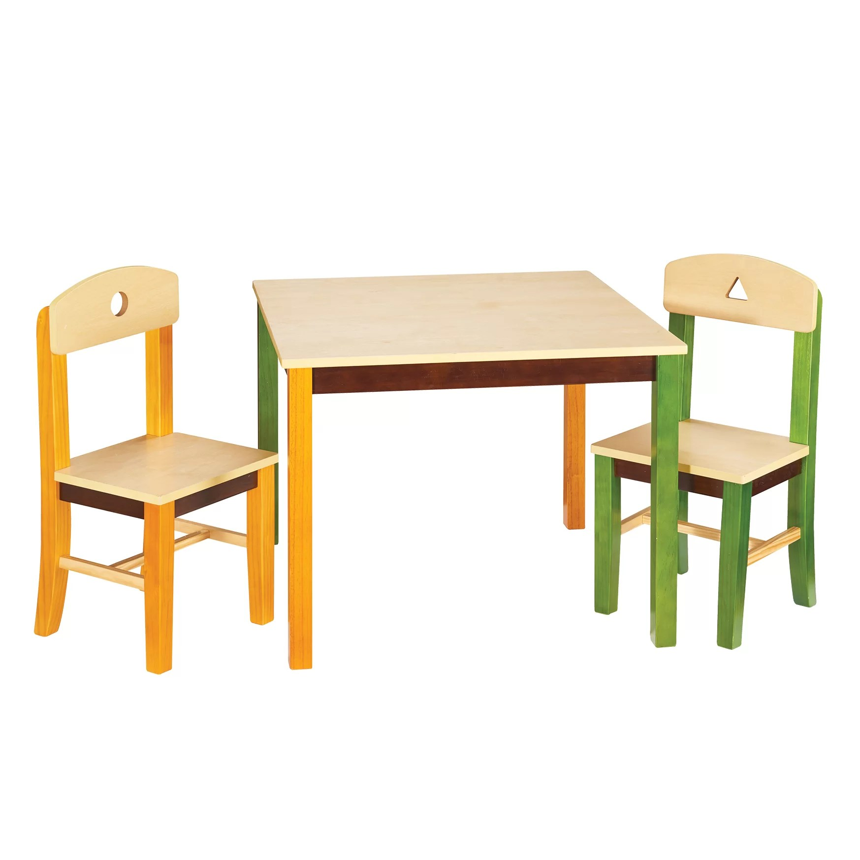 Guidecraft See And Store Kids 3 Piece Rectangle Table And