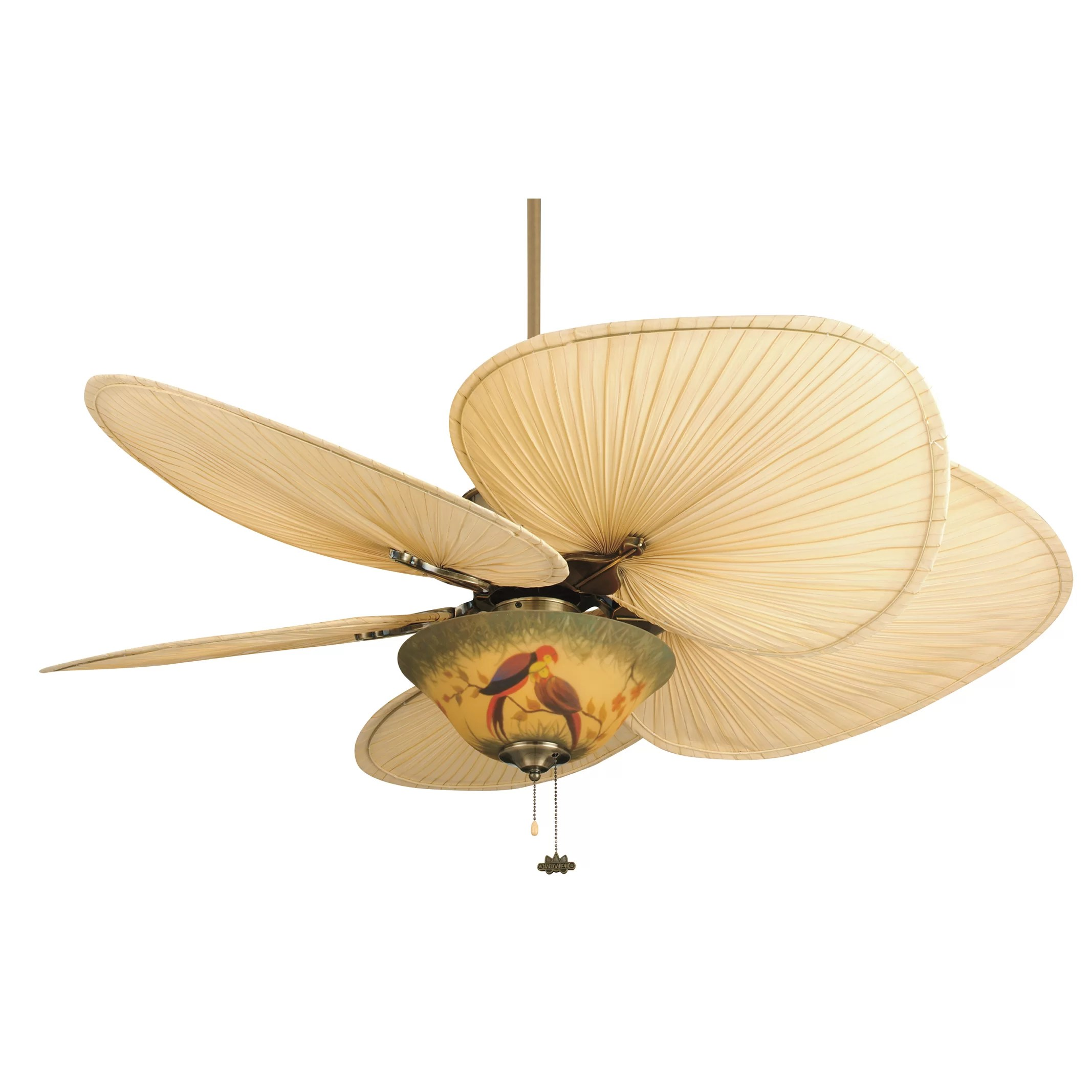 "Fanimation 52"" Islander 5 Palm Blade Ceiling Fan & Reviews"
