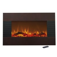 Northwest Mahogany Wall Mount Electric Fireplace & Reviews ...