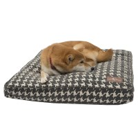 Jax and Bones Flocked Rectangle Pillow Dog Bed & Reviews ...