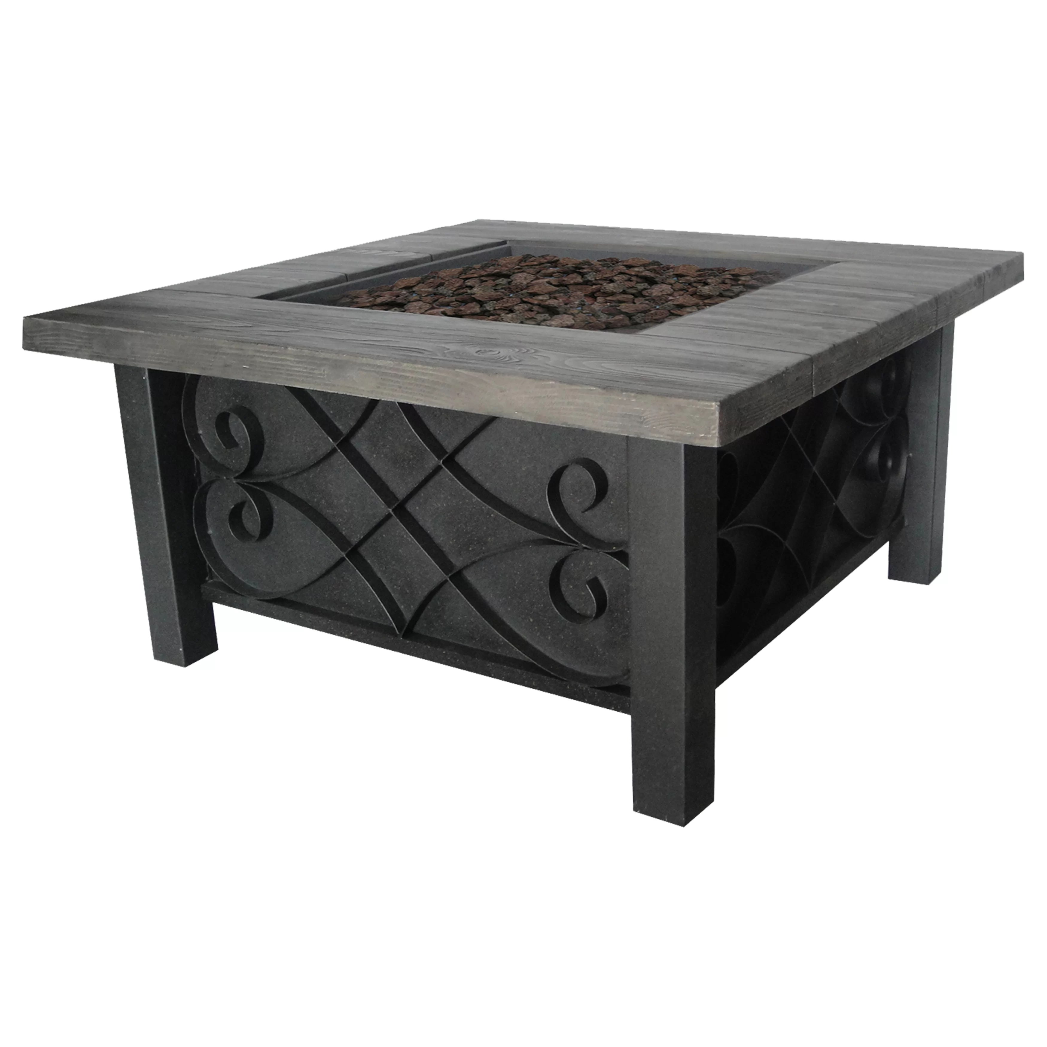 Fireplace Tables Outdoor Bond Marbella Steel Gas Outdoor Table Top Fireplace