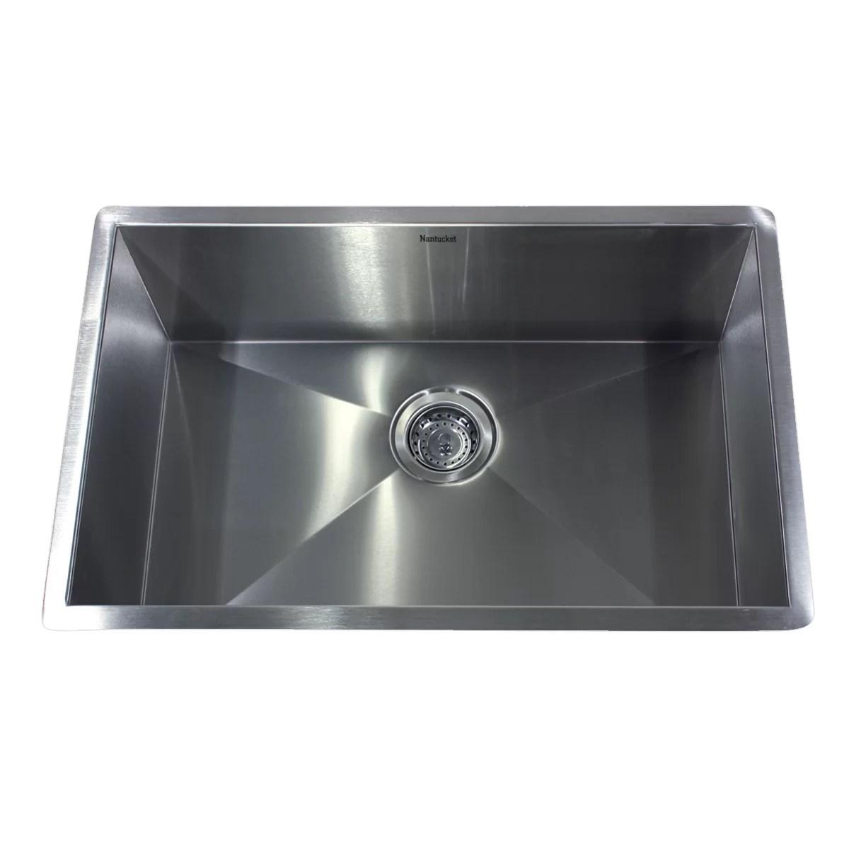 Nantucket Sinks 28quot X 18quot Zero Radius Large Single Bowl