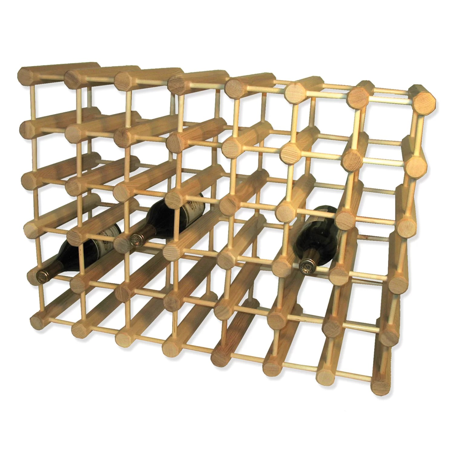 In Floor Wine Storage J K Adams 40 Bottle Floor Wine Rack And Reviews Wayfair