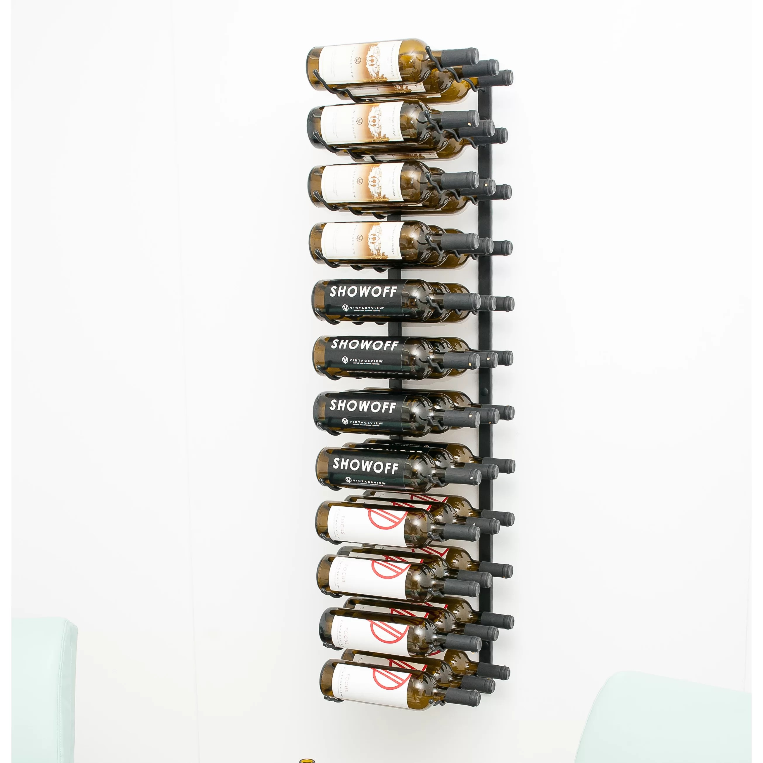Hanging Bottle Rack Vintageview Wall Series 36 Bottle Wall Mounted Wine Rack