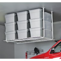 """Hyloft 45"""" x 60"""" Ceiling Mounted Shelf in White & Reviews ..."""