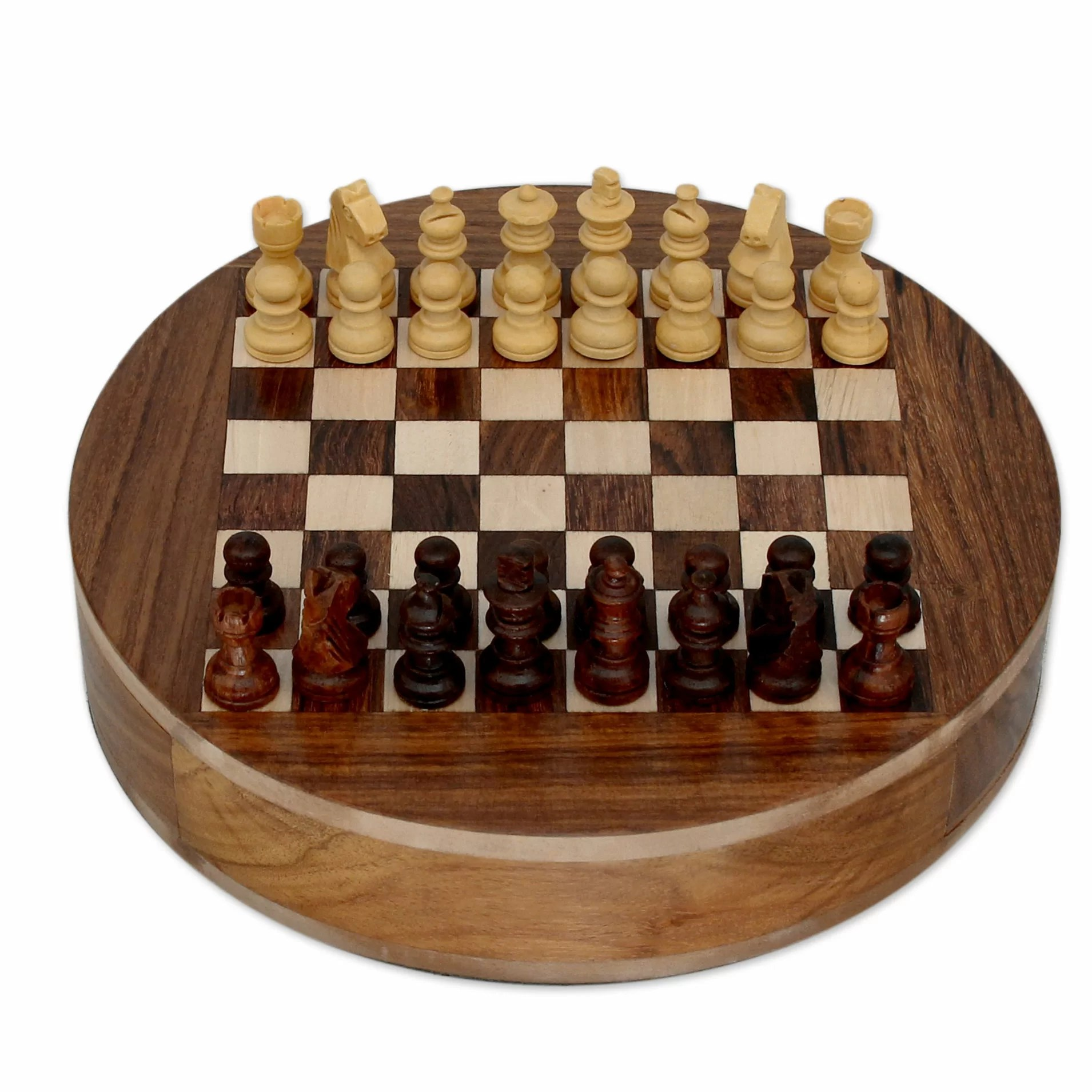 Chess Decor Novica Khyali Ram Decorative Wood Chess Board With Storage