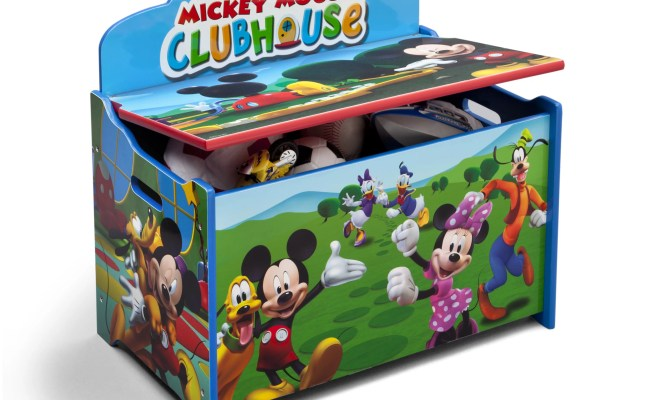 Delta Children Mickey Mouse Deluxe Toy Box Reviews Wayfair