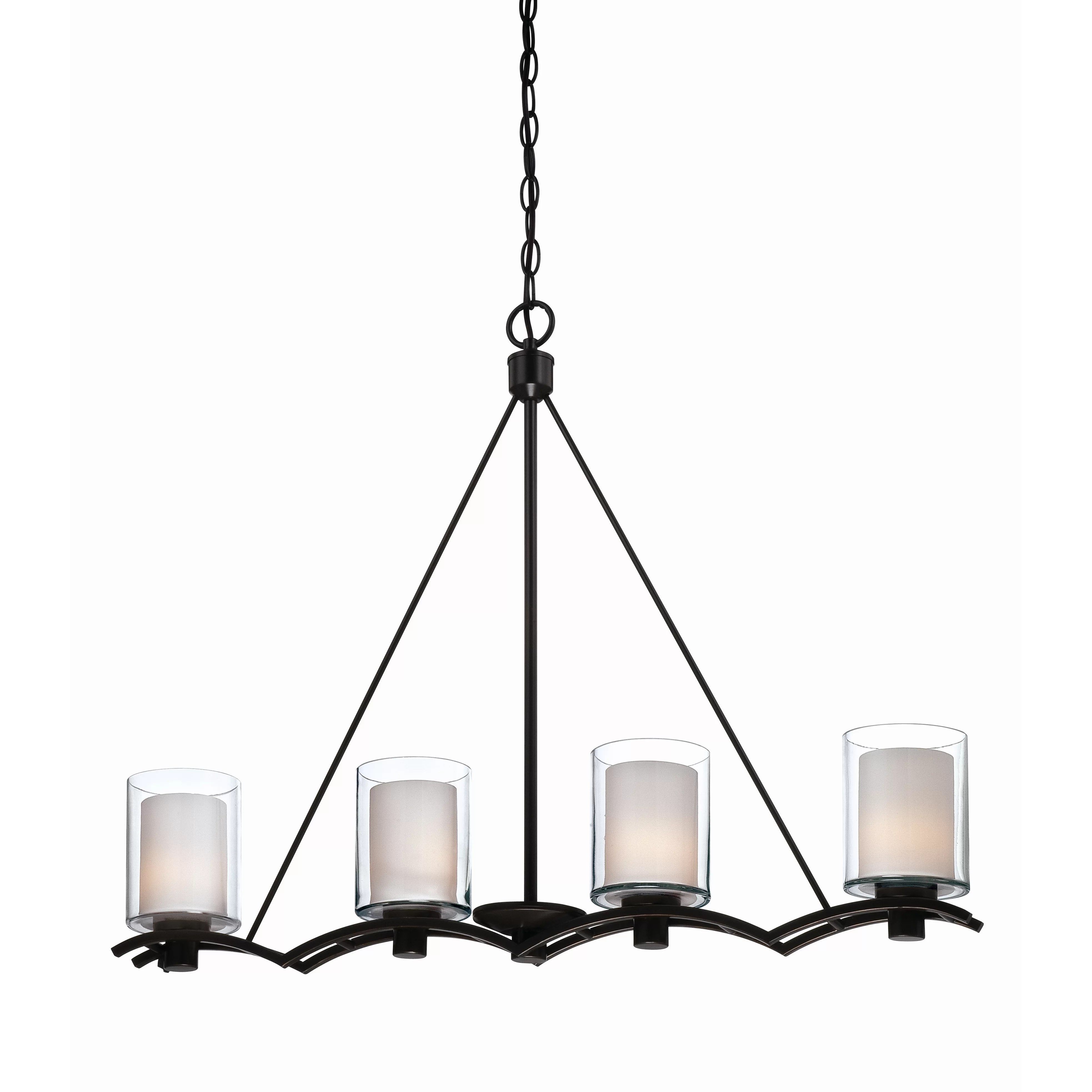 Pendant Island Lights Artcraft Lighting Andover 4 Light Kitchen Island Pendant