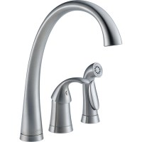 Delta Pilar Single Handle Deck Mounted Kitchen Faucet with ...
