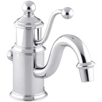 Kohler Antique Single-Hole Bathroom Sink Faucet with Lever ...