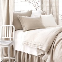 Pine Cone Hill Natural Pleated Linen Duvet Cover ...