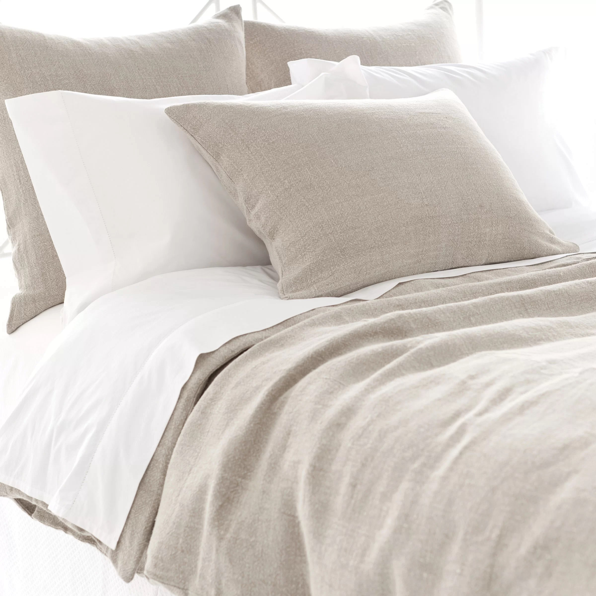 Linen Bedding Reviews Pine Cone Hill Stone Washed Linen Duvet Cover Collection
