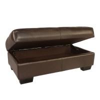 Lazzaro Leather Frandis Leather Storage Ottoman & Reviews ...