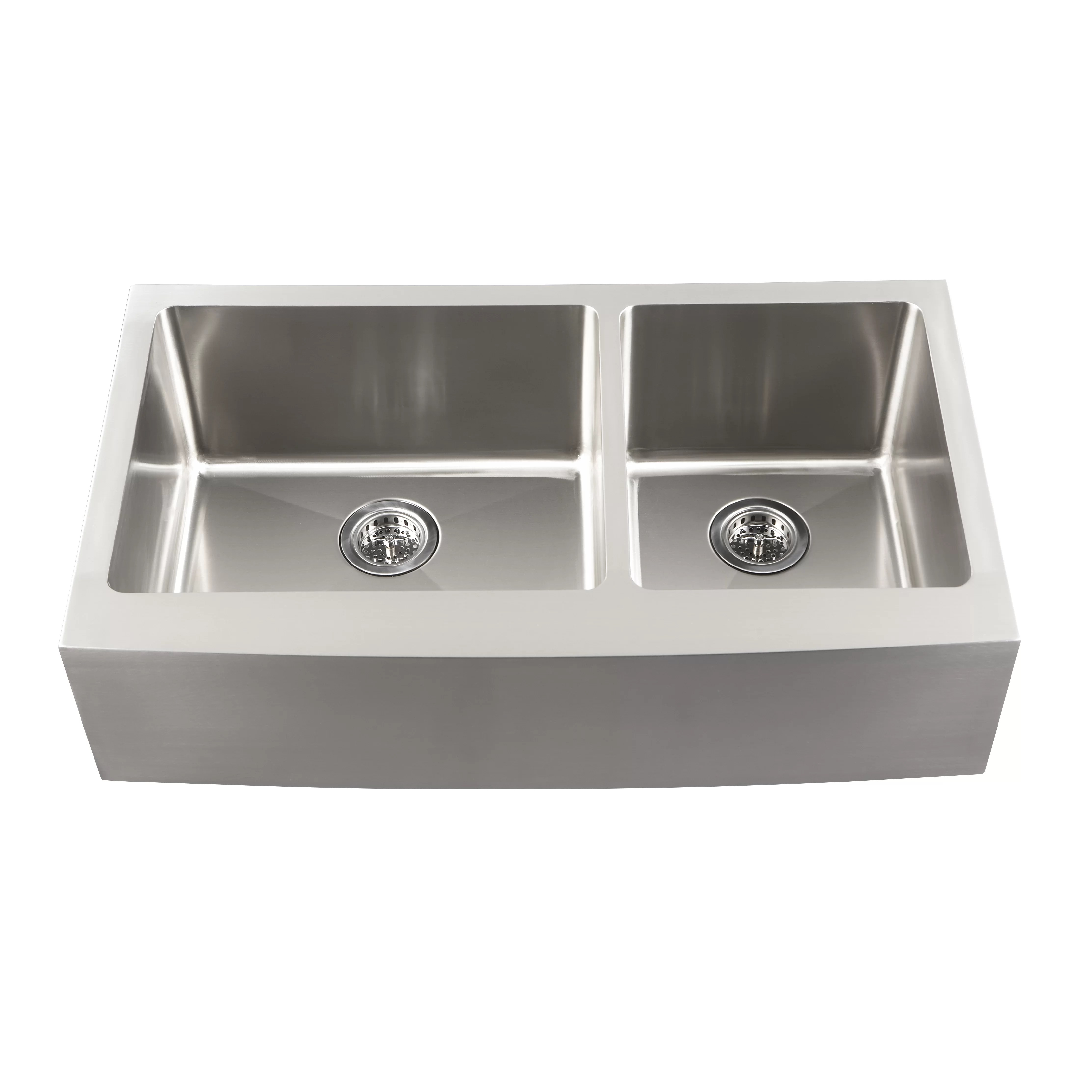 Overstock Farmhouse Sink Schon Farmhouse 36 Quot X 21 25 Quot Undermount Double Bowl