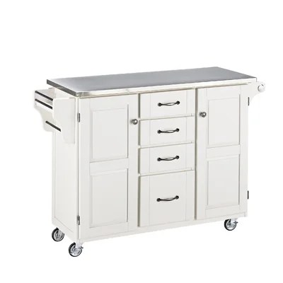 Create-a-Cart Kitchen Island with Stainless Steel Top ...
