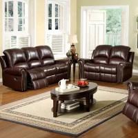 Sedona Reclining Italian Leather Sofa and Loveseat Set in ...
