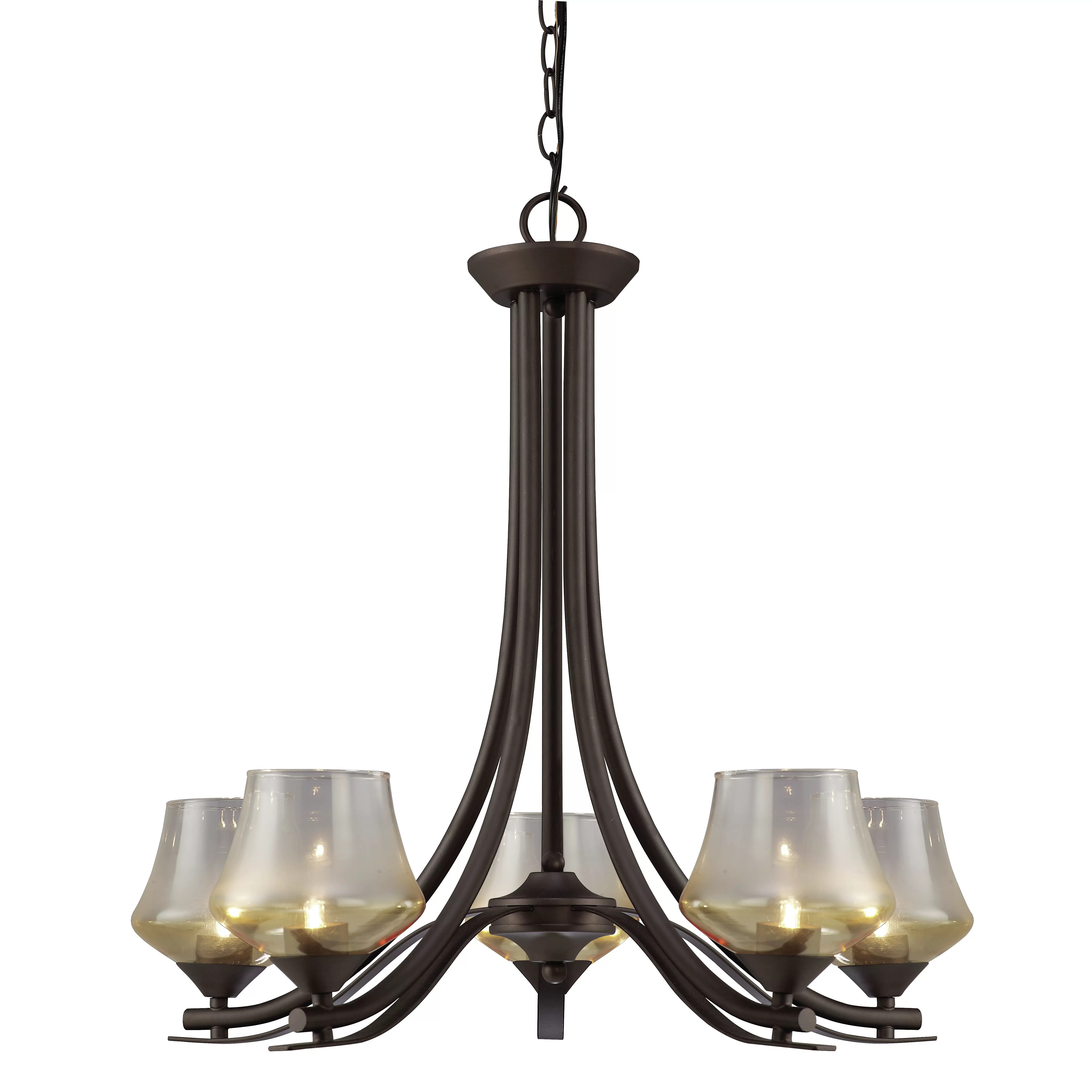 Wayfair Orb Lighting Cooper 5 Light Chandelier | Wayfair