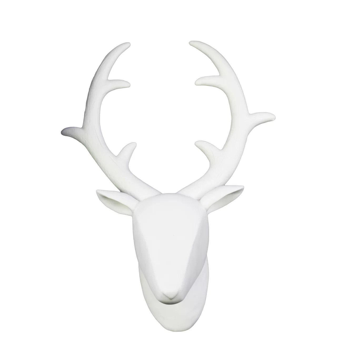 White Porcelain Deer Head Porcelain Wall Mount Deer Head Wayfair