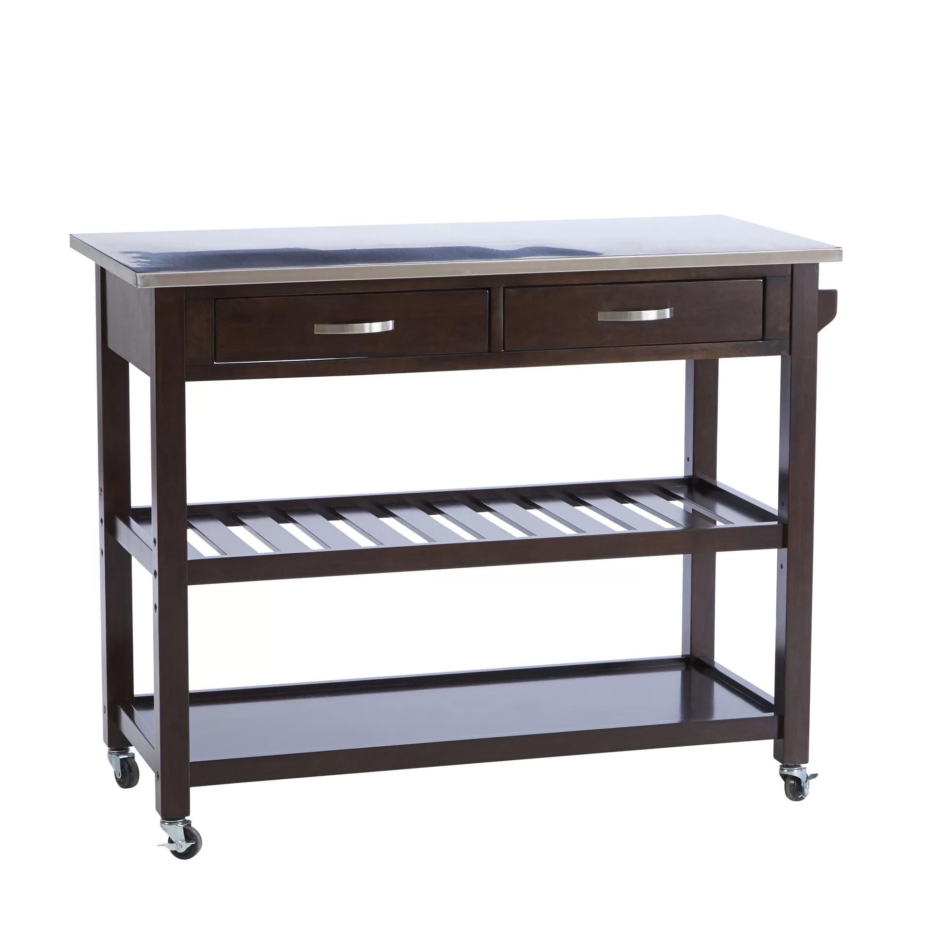 byrnedale kitchen island stainless steel top reviews wayfair furniture cambridge stainless steel top kitchen island white