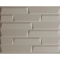 "31.4' x 24.6"" Paintable Brick 3D Embossed 3 Piece Panel ..."