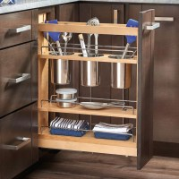 "5"" Pull-Out Cabinet Utensil Organizer 