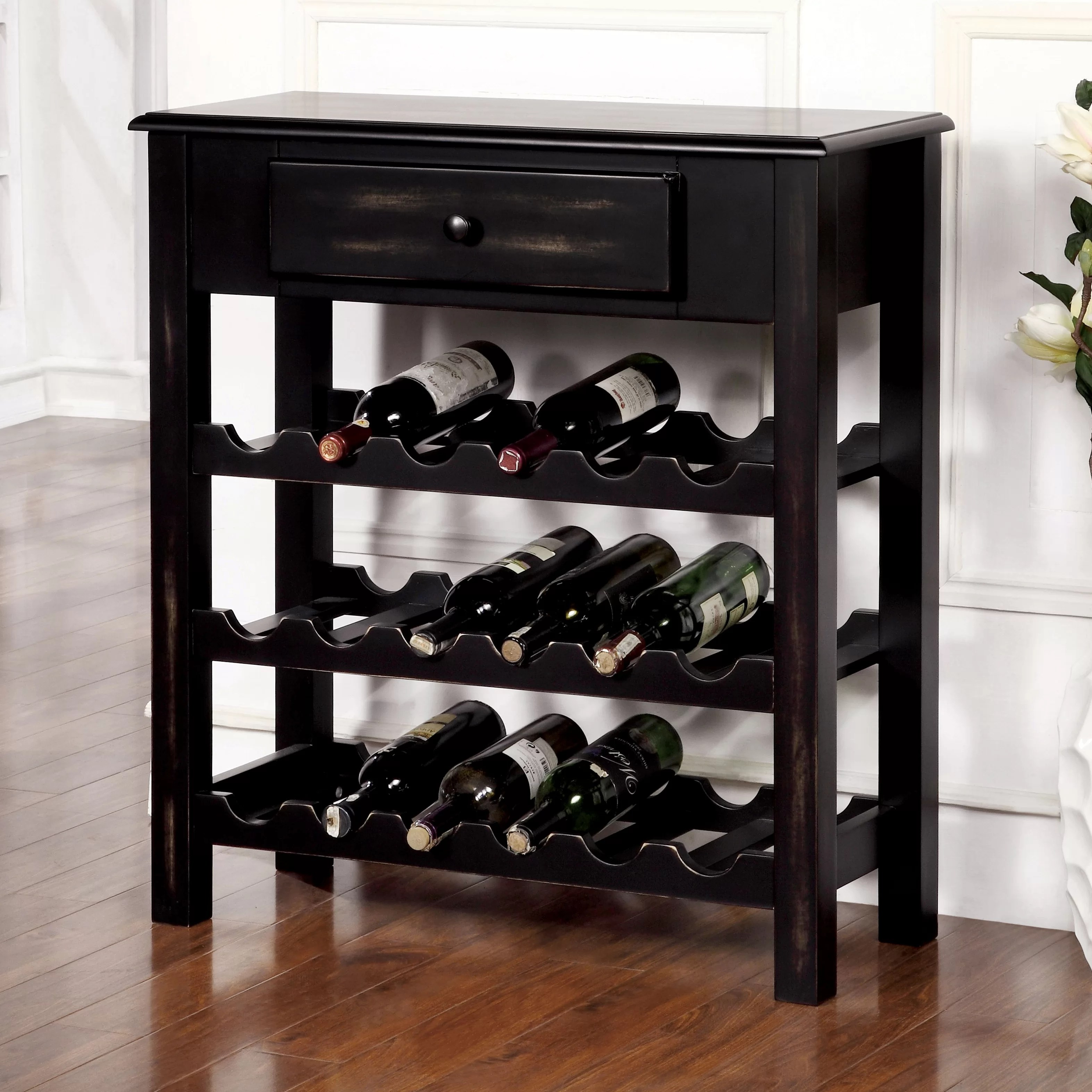 In Floor Wine Storage Cotopaxi 18 Bottle Floor Wine Rack Wayfair