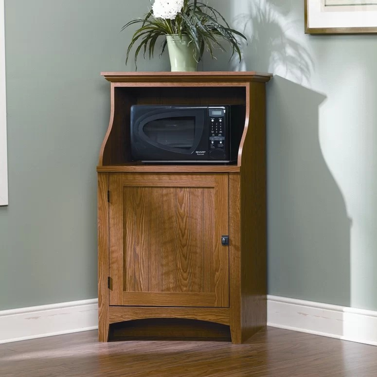 sauder summer home microwave cart reviews wayfair special sauder kitchen furniture danutabois