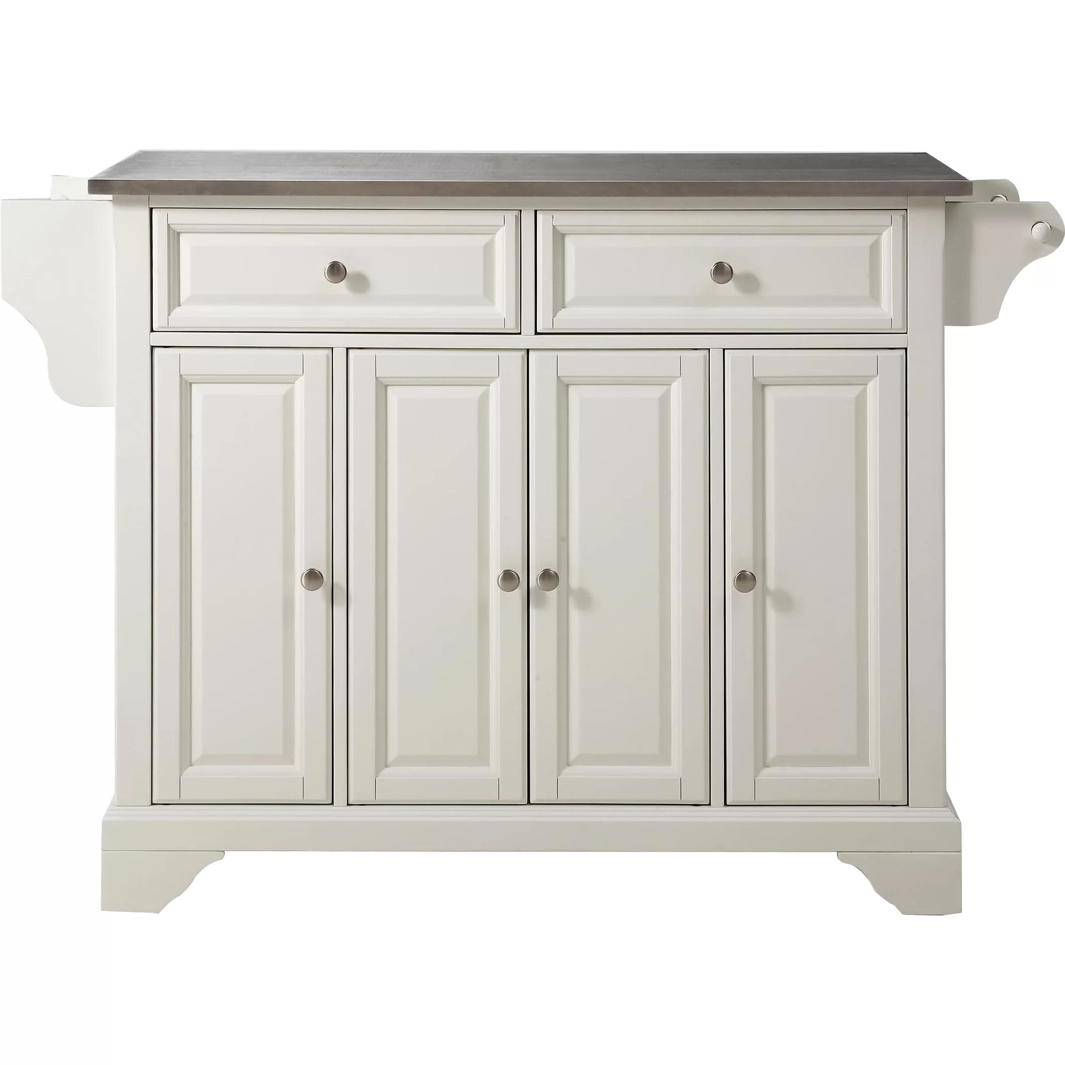 crosley lafayette kitchen island stainless steel top reviews furniture cambridge stainless steel top kitchen island white