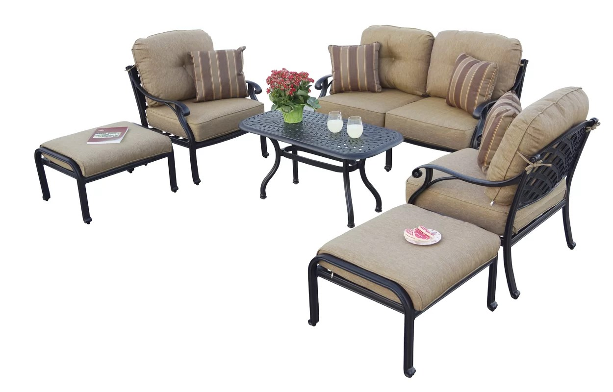 Lincolnville 6 Piece Love Seat Set With Cushions By Fleur