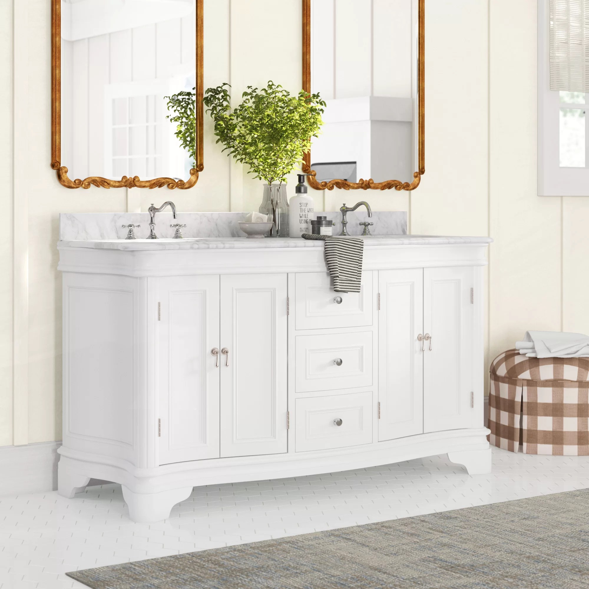 60 Inch White Bathroom Vanities You Ll Love In 2020 Wayfair
