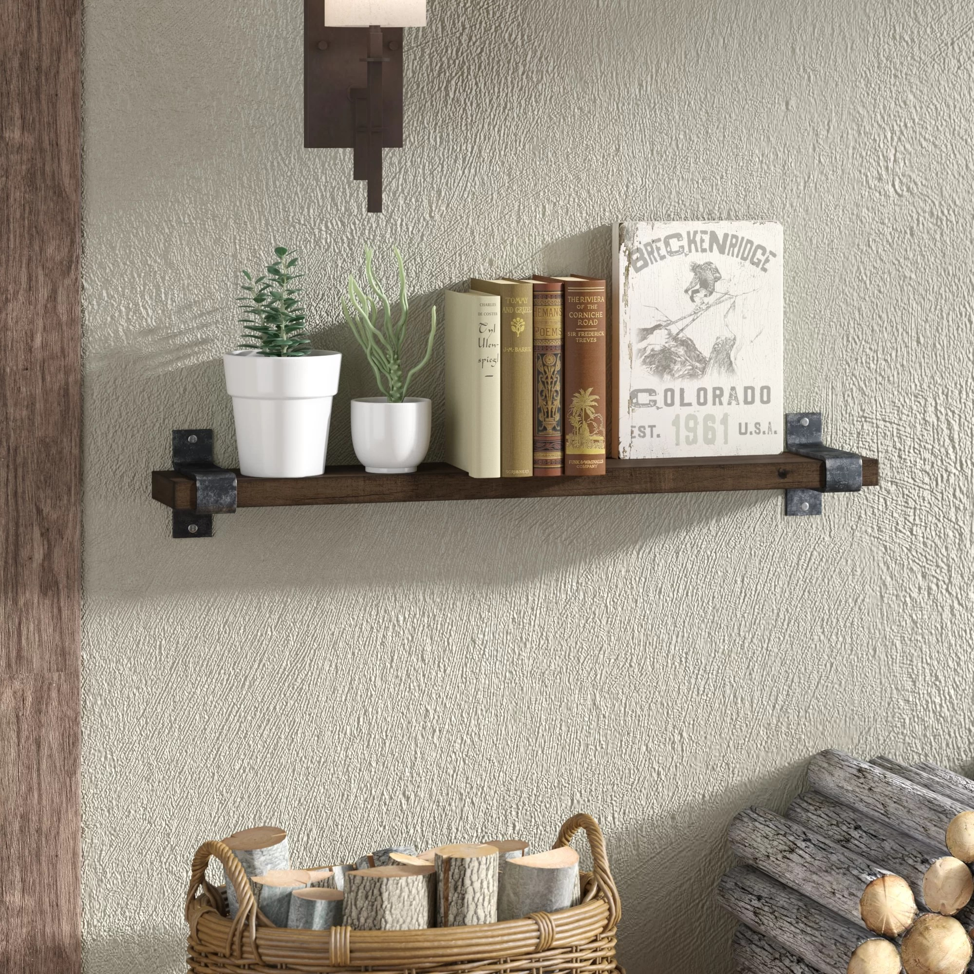 Wall Shelf Design Farrell Industrial Wall Shelf