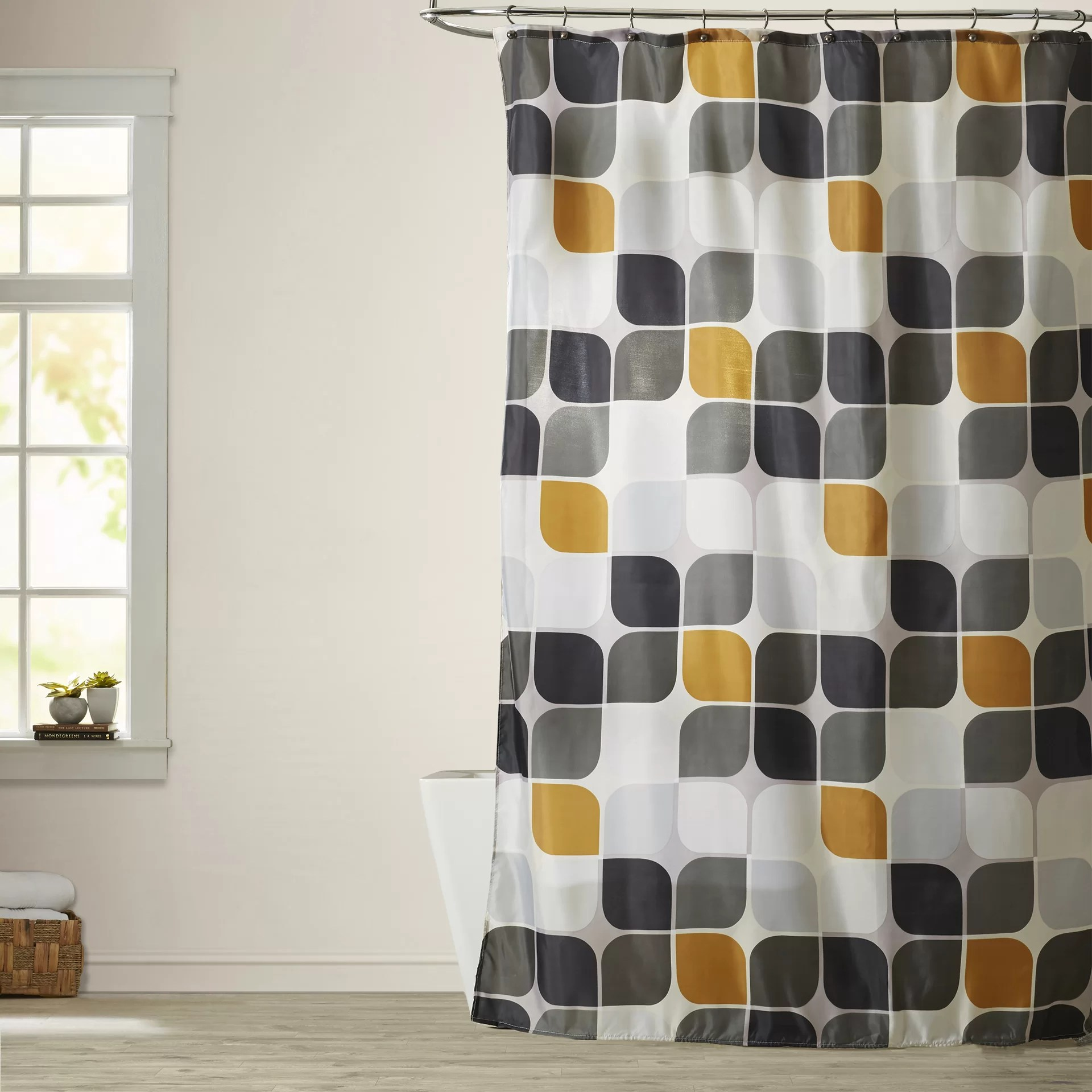 Long Shower Curtain Morales Extra Long Shower Curtain