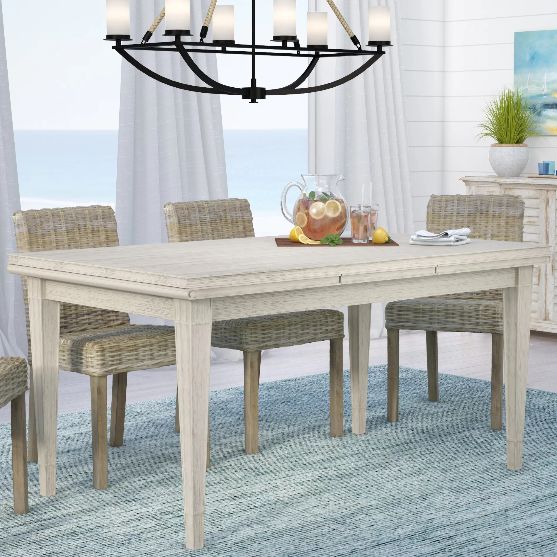 Dining Area Beachcrest Home Gilboa Refectory Extendable Dining Table Reviews