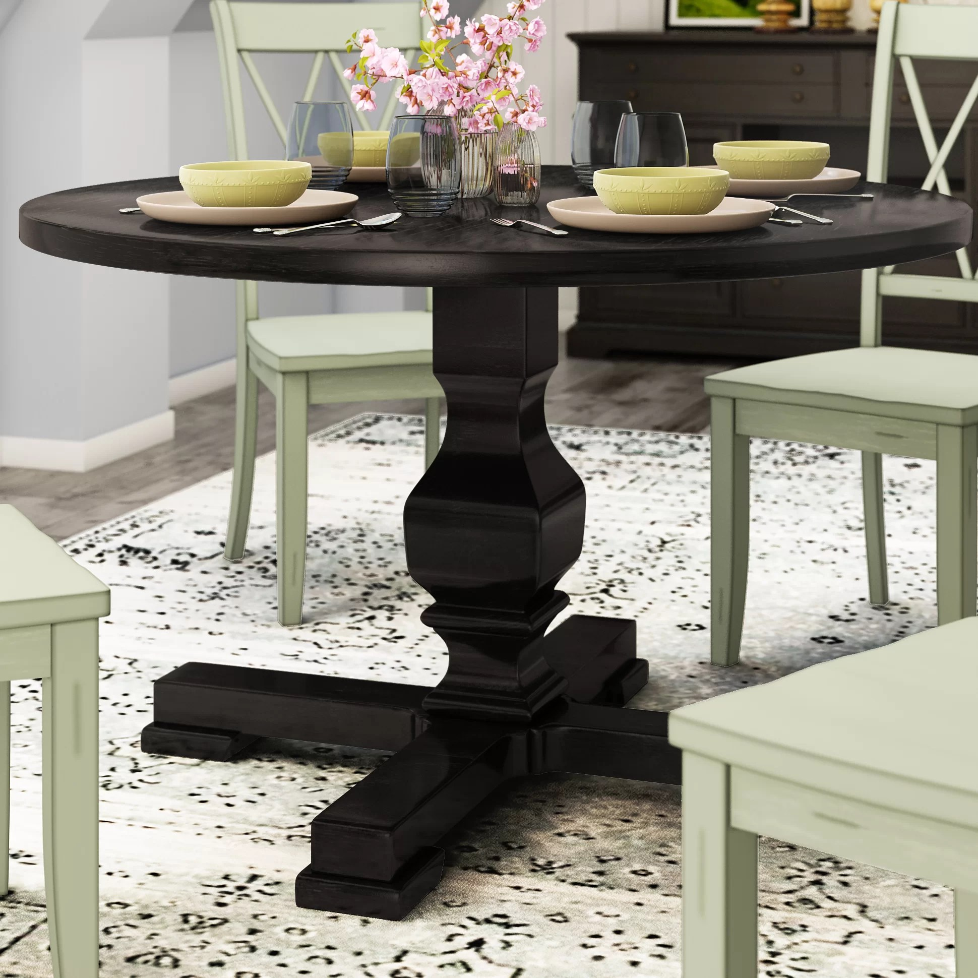 Breakfast Room Tables Bloomingdale Round Pedestal Dining Table