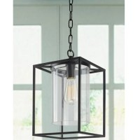 Didmarton Glass 1-Light Square/Rectangle Pendant & Reviews ...