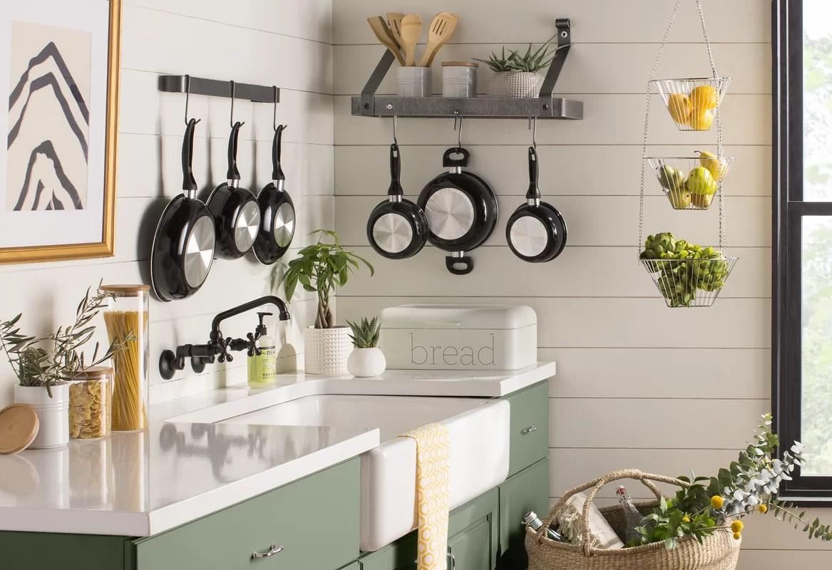 p hammered pot enclume with rack hooks bookshelf wall handcrafted steel hs racks