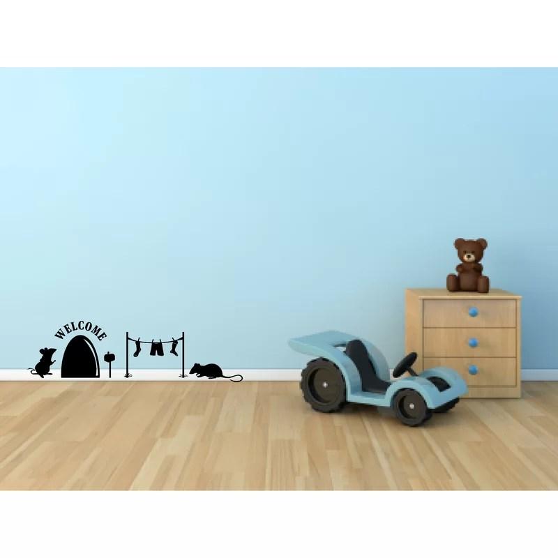 Enchantingly Elegant Cute Mice Mouse House Wall Decal Wayfair