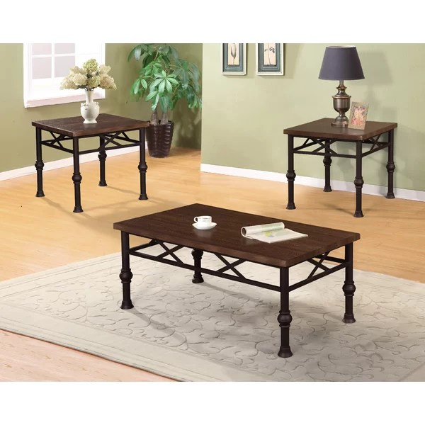 Laurel Foundry Modern Farmhouse Charles 3 Piece Coffee Table Set - 3 piece living room table set