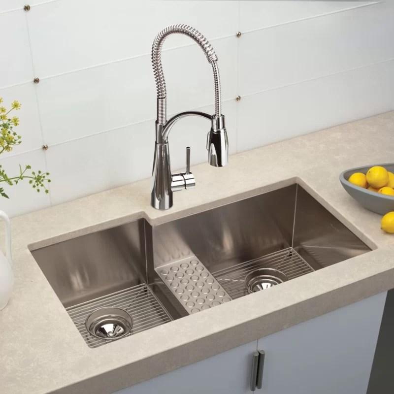 Elkay Crosstown 36quot X 21quot Double Basin Undermount Kitchen