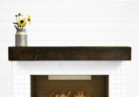 Dogberry Collections Modern Farmhouse Fireplace Mantel ...