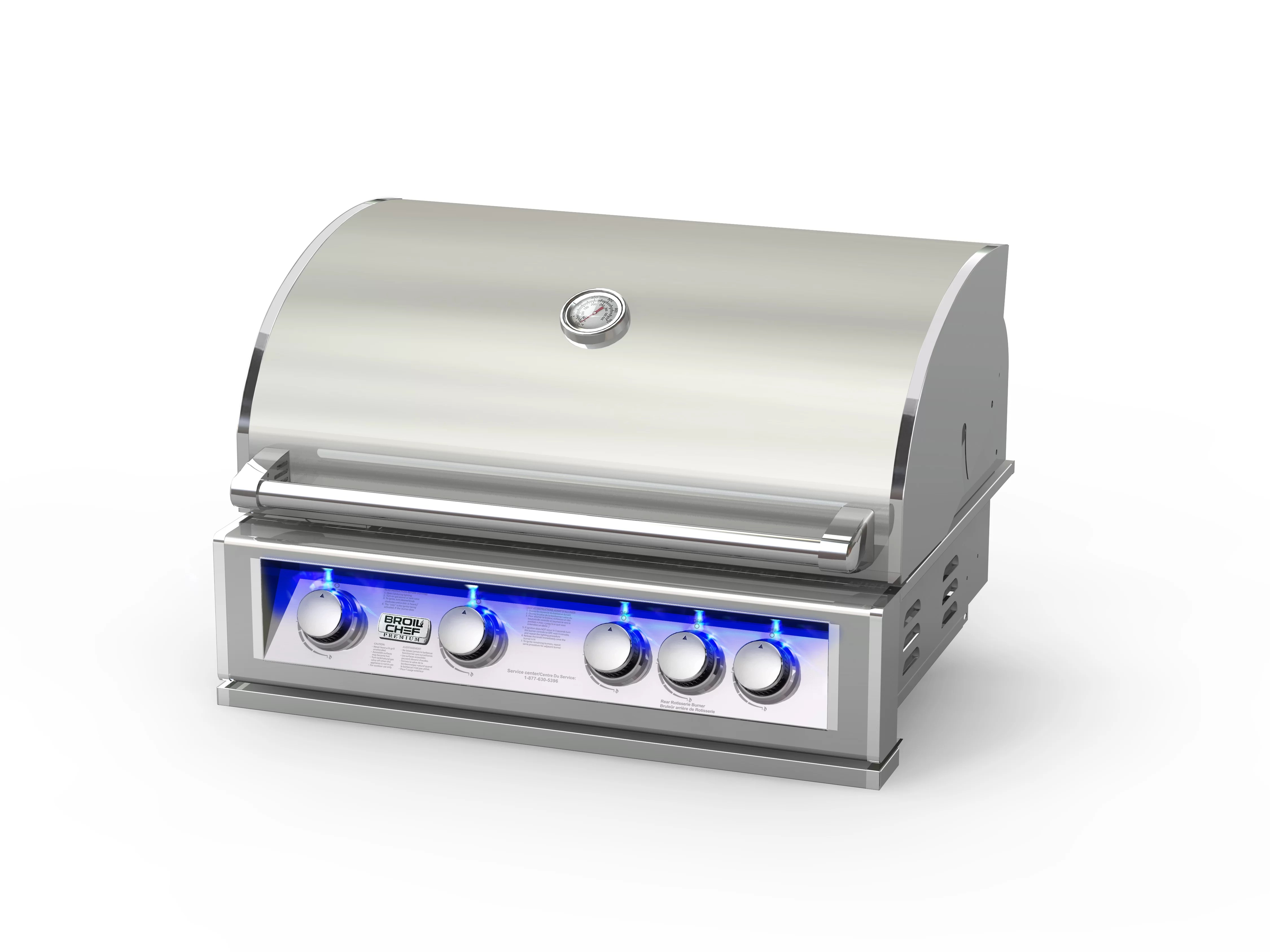 Broilchef Paramount 4 Burner Built In Gas Grill