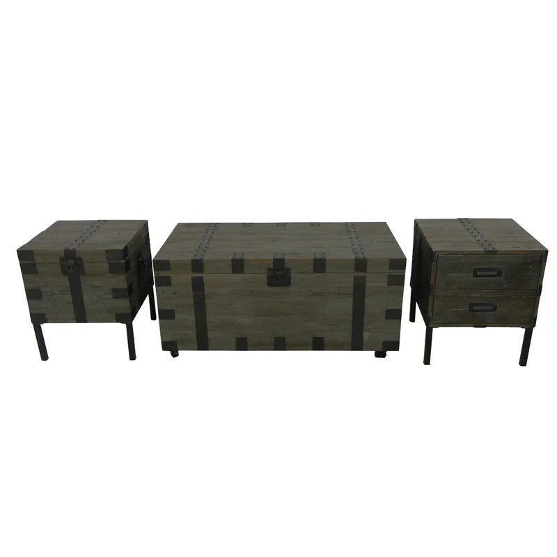Starfish 3 Piece Coffee Table Set \ Reviews Wayfair - 3 piece living room table set