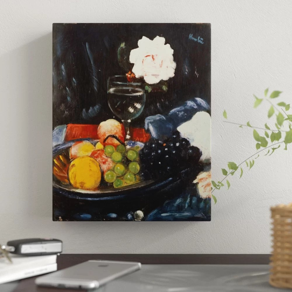 Winston Porter The Fruit Bowl Oil Painting Print On Canvas Wayfair