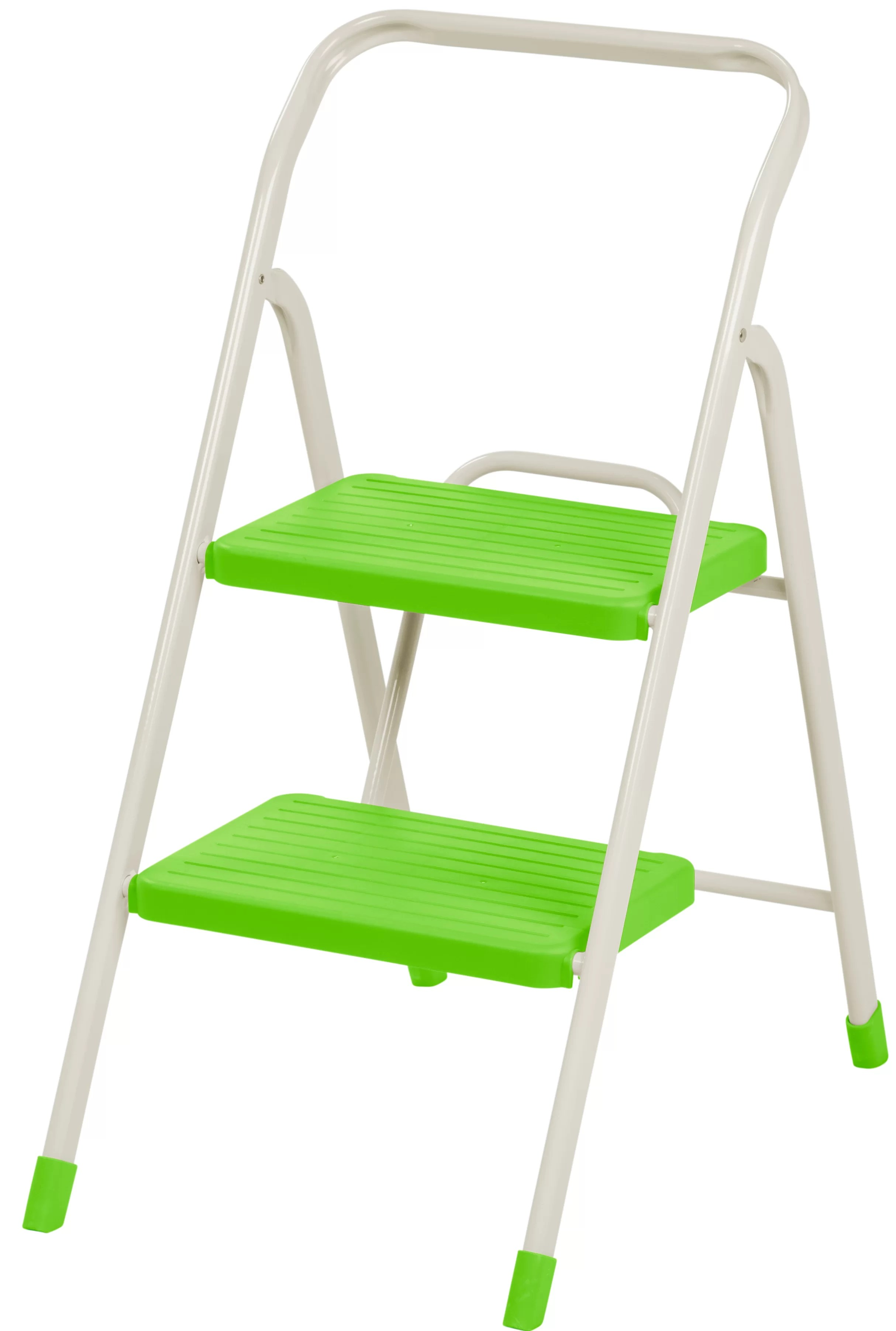 Metal Step Stool 2 Step Folding Step Stool With 225 Lb Load Capacity