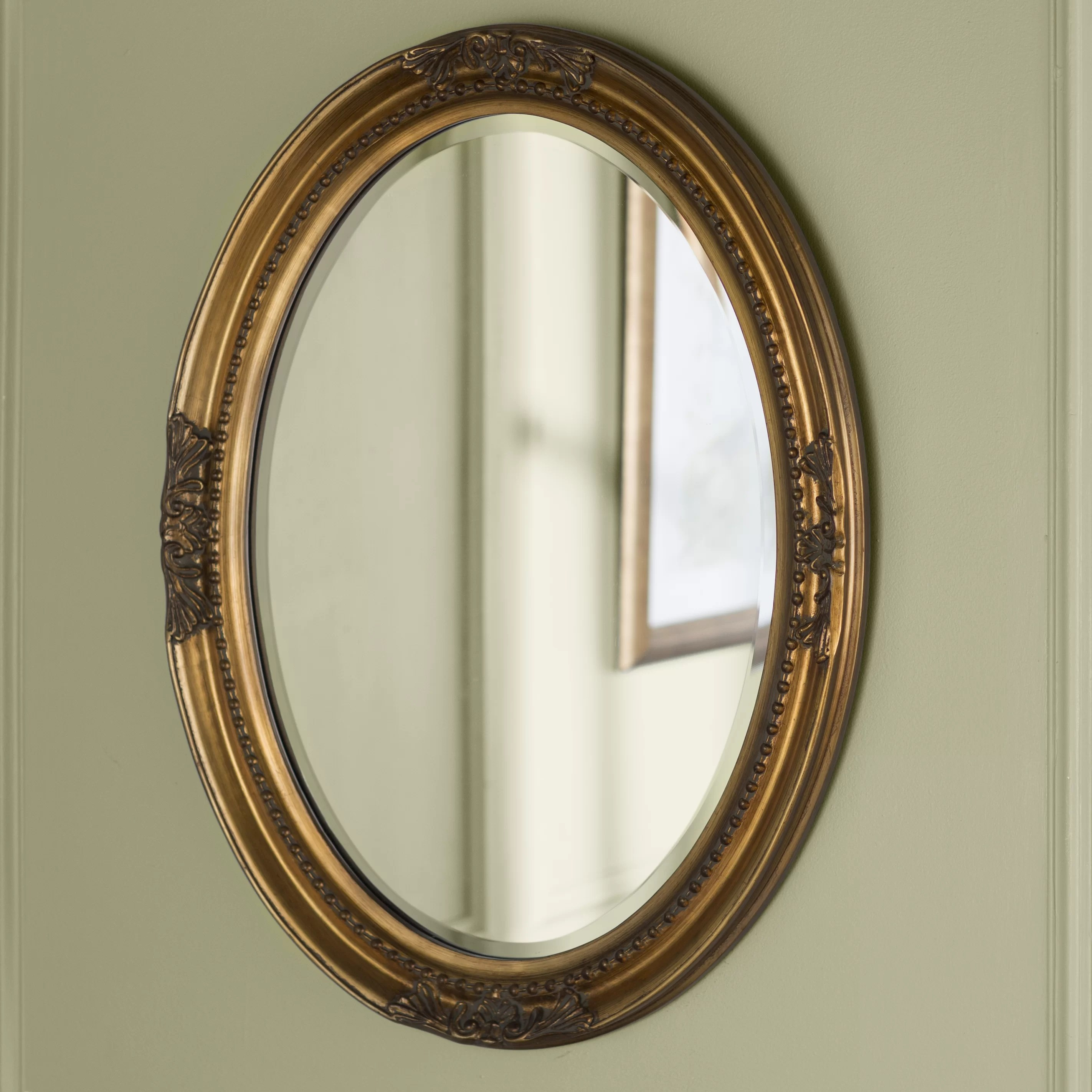 Oval Mirror Wood Frame Oval Wood Wall Mirror
