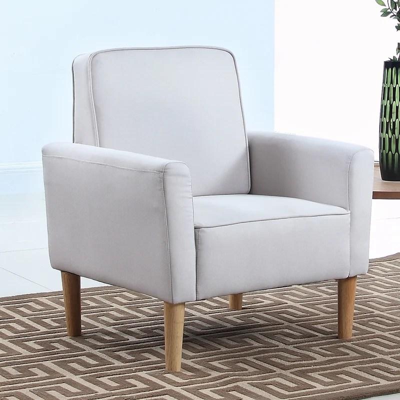 Mid Century Modern Fabric Living Room Armchair \ Reviews AllModern - living room armchair