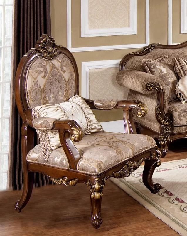 Astoria Grand Fontainbleau Traditional Living Room Armchair - living room armchair